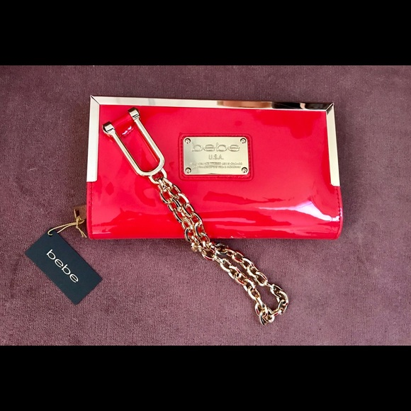 Beautiful Bebe Wristlet. New with tags.